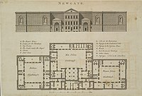 A plan of Newgate Prison published in 1800.