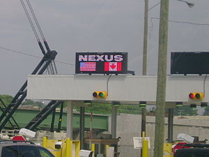 NEXUS (frequent traveler program) - A NEXUS lane at the U.S. side of the Ambassador Bridge.
