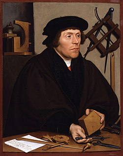 HOLBEIN, Hans the Younger Portrait of Nikolaus Kratzer c.1528