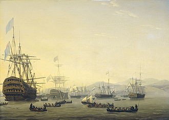 Bombardment of Algiers (1816) - Council of war on board the Queen Charlotte, 1818, Nicolaas Bauer