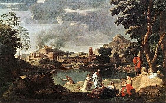 Nicolas Poussin - Landscape with Orpheus and Euridice - WGA18321.jpg