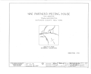 Nine Partners Meetinghouse, State Route 82 Vicinity, Millbrook, Dutchess County, NY HABS NY,14-MILB,1- (sheet 0 of 8).png