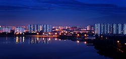 Nizhnevartovsk, lake Komsomolskoye skyline.jpg