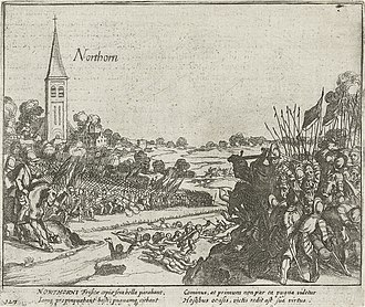 Battle of Noordhorn - The States' army in Noordhorn defeated by Verdugo, 1581. Simon Frisius, 1613–1615.