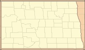 Оберн на мапи North Dakota
