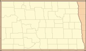 Fort Abraham Lincoln - Image: North Dakota Locator Map
