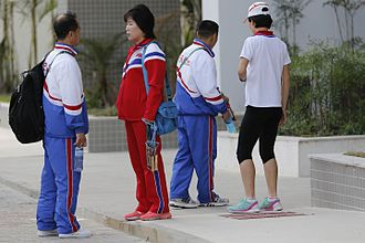 North Korea at the 2016 Summer Olympics - North Korean representatives at the Rio 2016 Olympic Village