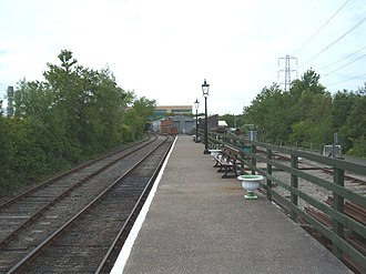 North Tyneside Steam Railway - Middle Engine Lane platform, looking north