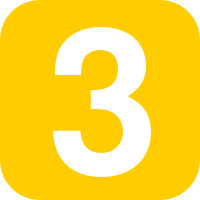 Number 3 in yellow rounded square.svg