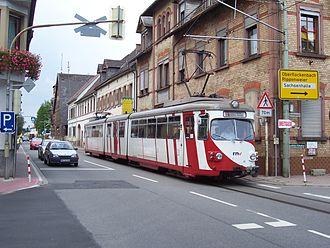 Upper Rhine Railway Company - Single track line in Großsachsen