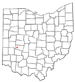 Location of Donnelsville, Ohio