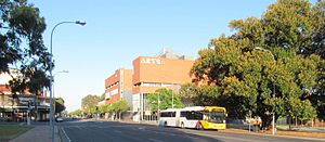 Currie Street, Adelaide - Currie Street, looking northwest from Light Square.