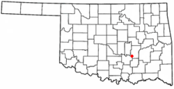 Location of Allen, Oklahoma