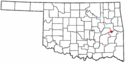 Location of Porum, Oklahoma