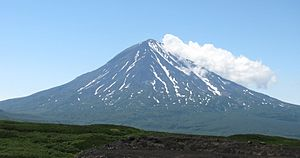 Kamchatka Peninsula - Opala volcano in the southern part of Kamchatka.