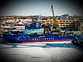 Ob (Project 30044) in February 2019. Vyborg Shipyard, Vyborg.jpg