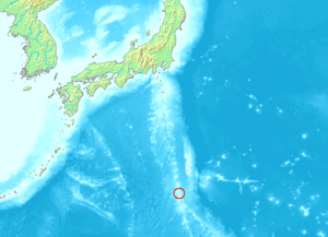 Location of Iwo Jima, Volcano Islands, Japan