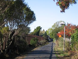 Ohlone Greenway - Ohlone Greenway near the BART portal