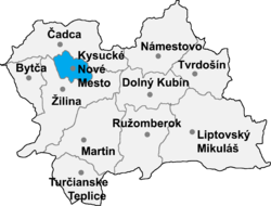 Location of Kisucke Nove Mesto apriņķis
