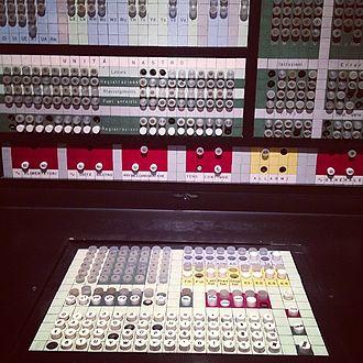 Olivetti Elea - The keyboard of the Elea