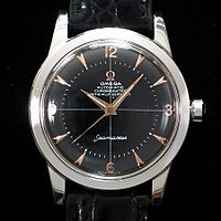 885db80b9477b Rare Seamaster chronometer in stainless steel case with rose gold markers