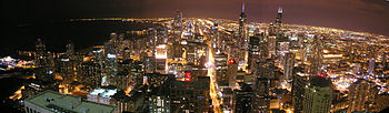 English: Chicago from the 96th floor of John H...