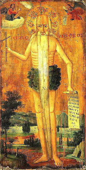 Onuphrius - Icon of Onuphrius. Provenance and date unknown.