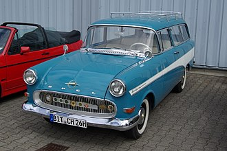 Opel Rekord P1 - The estate version was branded as the Opel Rekord Caravan.