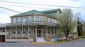 Okawville, Illinois - Original Springs Hotel and Bathhouse, a historic site in the village