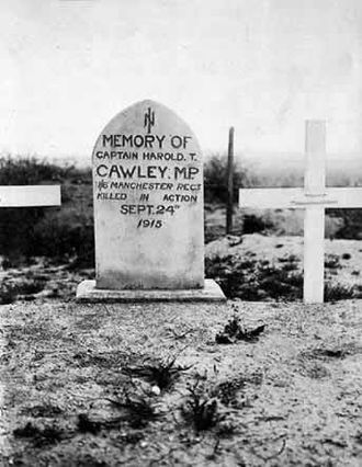 Harold Thomas Cawley - Original grave of Cawley at Gallipoli
