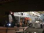 Orion capsule offloaded from USS Anchorage after EFT-1.jpg