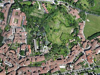 Orthophoto - Aerophotogrammetry, Orthophoto from drone, Città Alta, Bergamo, Italy.