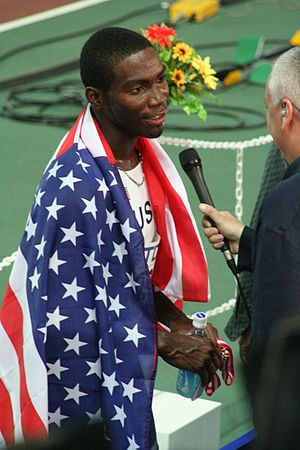 Kerron Clement - Kerron Clement at the 2007 World Championships