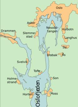 kart over indre oslofjord Indre Oslofjord – Wikipedia kart over indre oslofjord