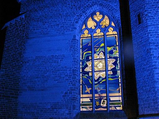 Oude Calixtuskerk Groenlo - raam Beleg van Grol 1627 (2007)