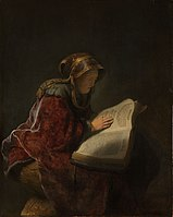Oude lezende vrouw, waarschijnlijk de profetes Hanna Rijksmuseum SK-A-3066.jpeg