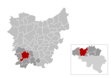 Location of Oudenaarde in East Flanders
