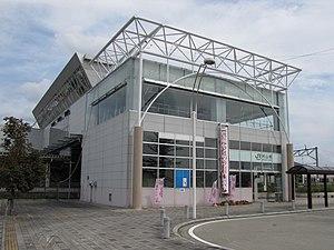 Murayama Station (Yamagata) - The west entrance in September 2012