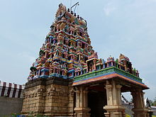 Gopuram at the entrance of the temple