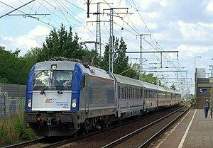 Rail transport in Poland - New PKP Intercity Siemens EuroSprinter approaching Berlin