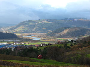 Central Beskidian Piedmont - Dunajec River, Rożnów Piedmont, Poland