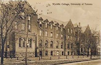 Wycliffe College, Toronto - Old postcard depicting Wycliffe College