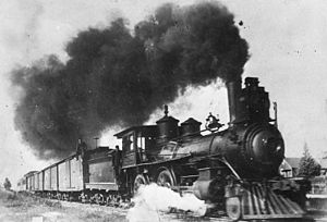 Pontiac Pacific Junction Railway - PPJR Engine No. 4 leaving Campbell's Bay, circa 1902