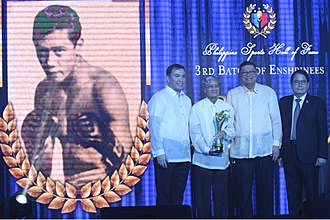 Erbito Salavarria - Salavarria's induction to the PSC Hall of Fame.