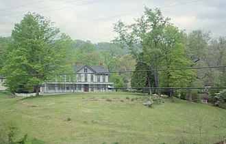 William Nelson Page - A view of the Page-Vawter House in Ansted, West Virginia from the Midland Trail