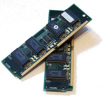 Dynamic random-access memory - A pair of 32 MB EDO DRAM modules.