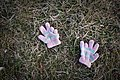 Pair of handgloves - somewhere out there, a kid's hands are cold... (4474727622).jpg