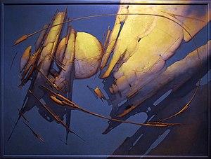 Joan Castejón - 'Golden landscape', oil on canvas, 1993, by Joan Castejon.