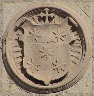 Alonso III Fonseca - Coat of arms of archbishop.
