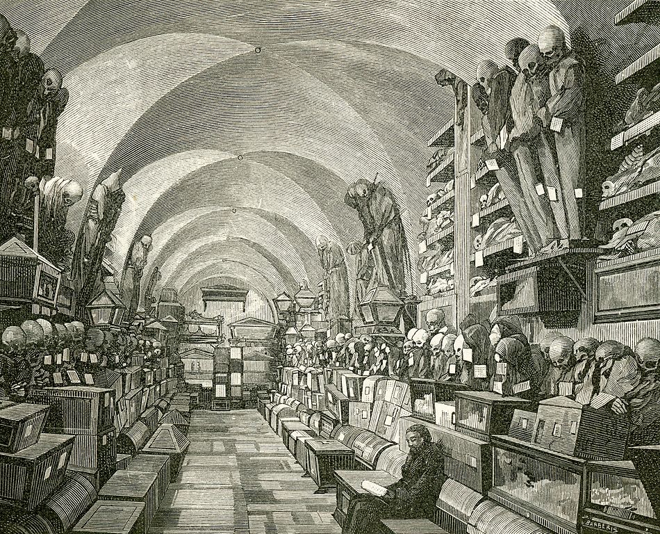 Catacombes des Capucins à Palerme - Illustration de Giuseppe Barberis